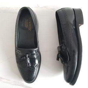 Hanover Masterflex Mens Wingtips Loafers Black